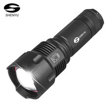 SHENYU LED Flashlight 26650 Torch Waterproof Flashlight Cree XML t6 l2 600 lumen Zoomable Portable Camping Light AA Battery