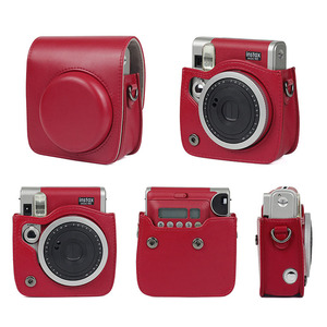 Image 5 - FUJIFILM Instax Mini 90 Neo Classic Camera Case PU Leather Shoulder Strap Camera Bag Crystal PVC Protective Carry Cover