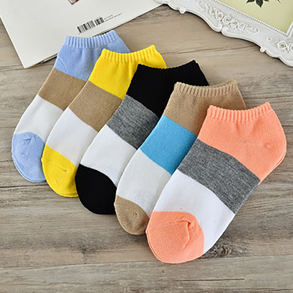 Women Sock Slippers 1Pairs Comfortable Strip Cotton Short Ankle Socks Girl Breathable  #30