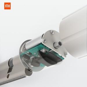 Image 2 - Xiaomi mijia fechadura inteligente, porta de segurança residencial, prática, antirroubo, fechadura, núcleo com chave, funciona com mi home aplicativo de aplicativo
