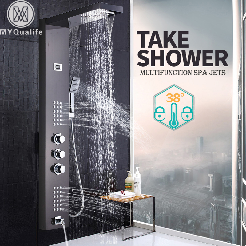 Back To Search Resultshome Improvement Bright 2017 Real Robinet Shower Panel Micoe For Thermostatic Shower Set Hot And Cold Mixed Faucet Bathroom Three Function Nozzle
