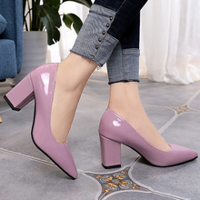 Women pumps fashion large size 4-10.5 pointed toe elegant woman shoes shallow sq