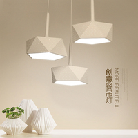 Modern fashion 3 heads circular led pendant lights, room restaurant kitchen living room quadrate pendant lamps