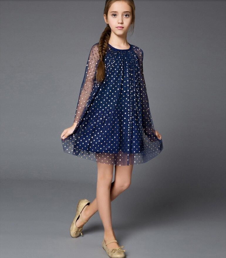 elsa Anna dress girl dress long sleeve girl clothes ...