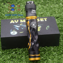 AV Twistgyre mod kit Brass copper Aluminum Material Mechanical Mod 18650 battery e cigarette kit 24mm diameter with 510 tank(China)