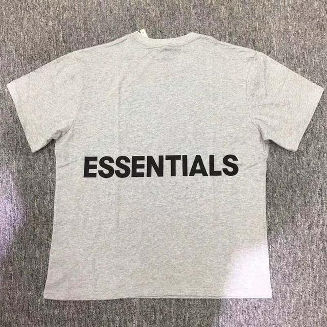8edf1906 FOG Essentials Boxy Graphic T shirts 18 Summer Justin Bieber Streetwear Fear  Of God T-Shirt Gray Essentials Fear Of God Top Tees