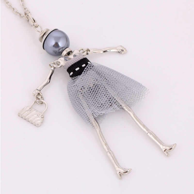 Lalka długie naszyjniki dla dziewczynek nowy projekt moda biżuteria łańcuszek spadek wisiorek naszyjniki duży choker świąteczne prezenty hot