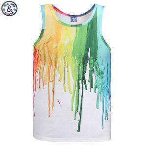 264000dd930af Mr.BaoLong Newest Hot model Europe and America youth fashion pigment  printed 3D vest Men tank tops casual summer tops tees DB11
