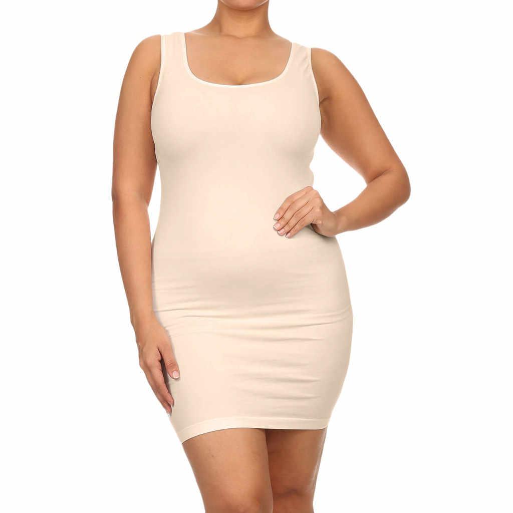 Elbise Yaz Parti gece elbiseleri kadın Artı Boyutu 5XL O-boyun Beyaz Siyah kolsuz yelek Ince Mini Elbise gece elbisesi Vestidos # L5 $