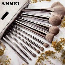 10Pcs Metal Makeup Brushes Set Powder Foundation Eyebrow Eye Shadow Lip Concealer Fan Makeup Brush Kit  Maquiagem