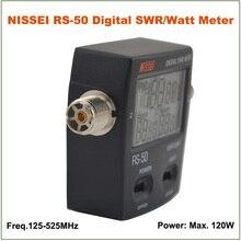 Горячая распродажа NISSEI RS-50 RS50 цифровой ксв-метр / вт измеритель мощности 125 — 525 мГц 120 Вт увч / укв M тип разъема для 2-передающие