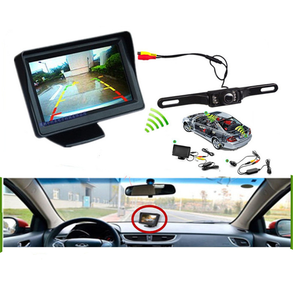 4 Prong Night Vision Hdmi Wiring 3 In 1 Wireless Car Parking Assistance Inch Tft Lcd Rearview Monitor 7ir Led Backup Reversing Camera