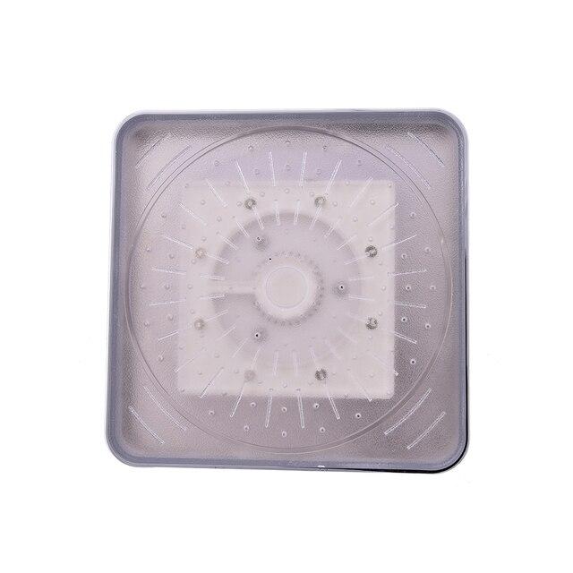 Jetting Küchenarmatur Quadrat LED Regen Top Dusche Badezimmer 7 Farben  Automatische Ändern Mit Wand Decke Dusche