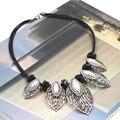 Ожерелье дизайн высокое качество себе ожерелье воротник с перл кожа ожерелья и кулоны мода ожерелья для женщин 2015