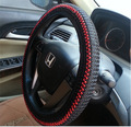 2016 New Universal  a piece of cloth with an elastic Cowhide DIY Car Steering Wheel Cover Case With Needles and Thread Car Cover