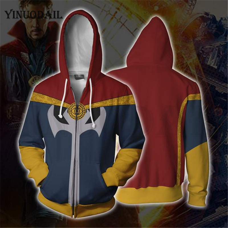 Avengers 4 Endgame Men and Women Zipper Hoodies Captain Marvel 3D Hooded Jacket Superhero Sweatshirt Streetwear Cosplay Costume in Hoodies amp Sweatshirts from Men 39 s Clothing