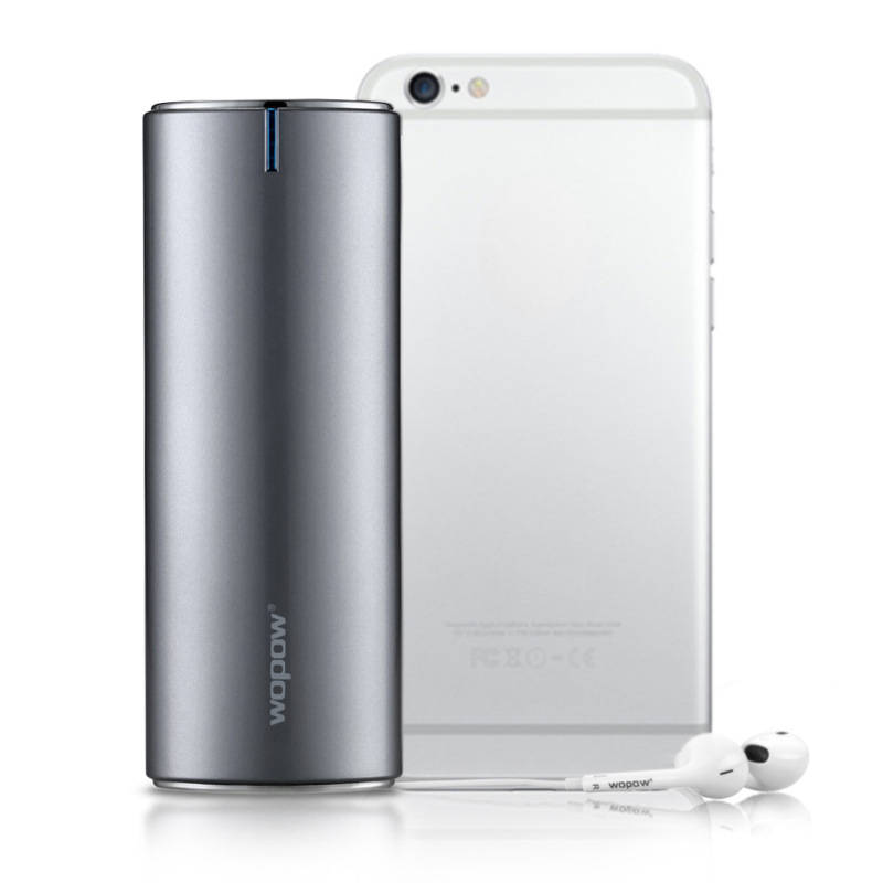Wopow new power bank 20000mah metal dual output mobile power fast charge portable charger external power