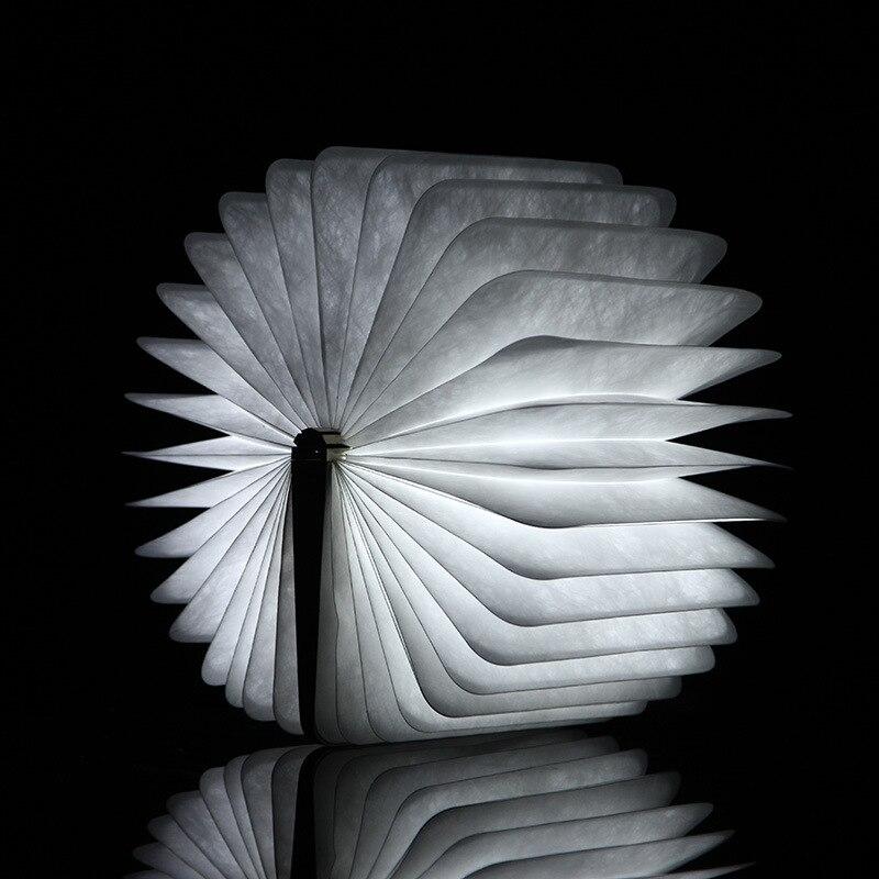 LED Перезаряжаемые складной книга свет ночью изменчива Форма Батарея работает приспособление красивые настольные лампы, светильники ...