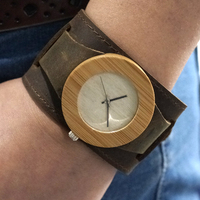 Womens Top Brand Bamboo Wooden Wristwatch Chicago Bracelets Genuine Leather Bands Straps With Gift Box