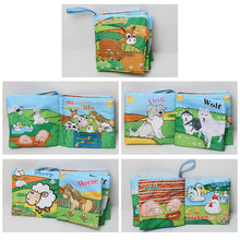 6 Types Sensory Toys Cloth Fabric Books English Educational Infant Learning Toy Baby Book Animals vegetables for Bedtime Story(China)