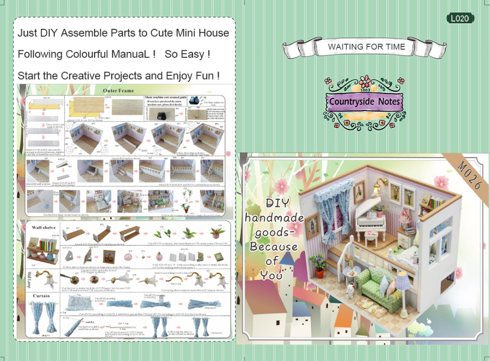 CUTEBEE-Doll-House-Miniature-DIY-Dollhouse-With-Furnitures-Wooden-House-Stars-Sky-Toys-For-Children-Birthday-Gift-M026-5