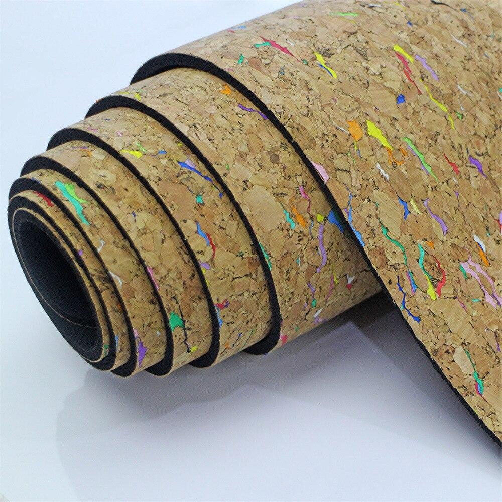 6 MM 183*61 CM coloré liège en caoutchouc naturel tapis de Yoga Fitness coussin pour femmes hommes Pilates gymnastique Pad exercice Sport tapis