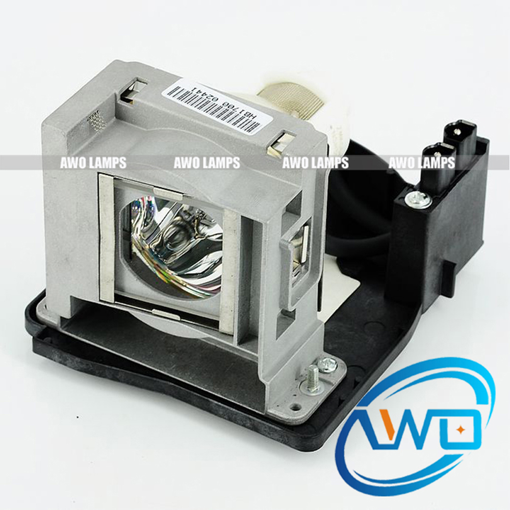 AWO Original Projector Lamp VLT-XD2000LP with Housing for MITSUBISHI WD2000U / XD1000U / XD2000U / WD2000 Projectors pureglare original projector lamp for mitsubishi vlt hc3800lp with housing