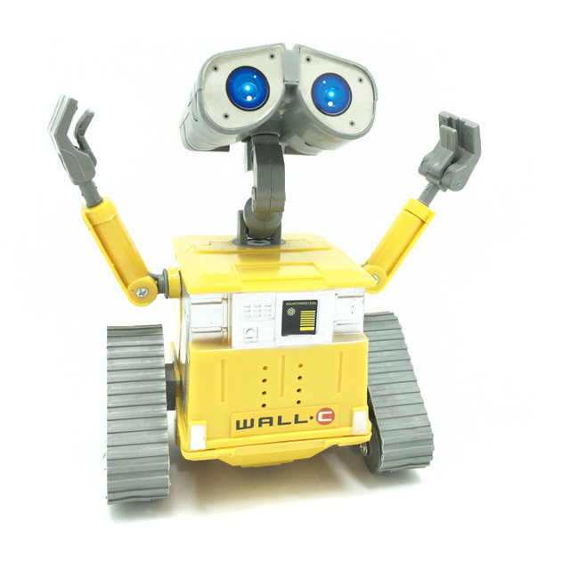 Free Shipping 1Piece Wall-E Robot Toy Car Action Figure Wall-E Walle Robot Intelligent