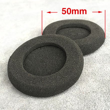 High Quality 2pcs/pair 50mm Foam Ear Pads For Headphones PC130 PC131 PX80 PX100 H500 5cm Earbud cojines Cover Headphone Ear pad(China)