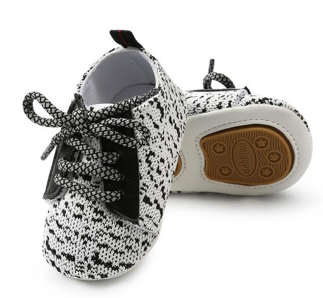 2018 newborn toddler shoes 0-18 month baby boys and girls casual sports shoes hard sole prewalker sneakers lace up