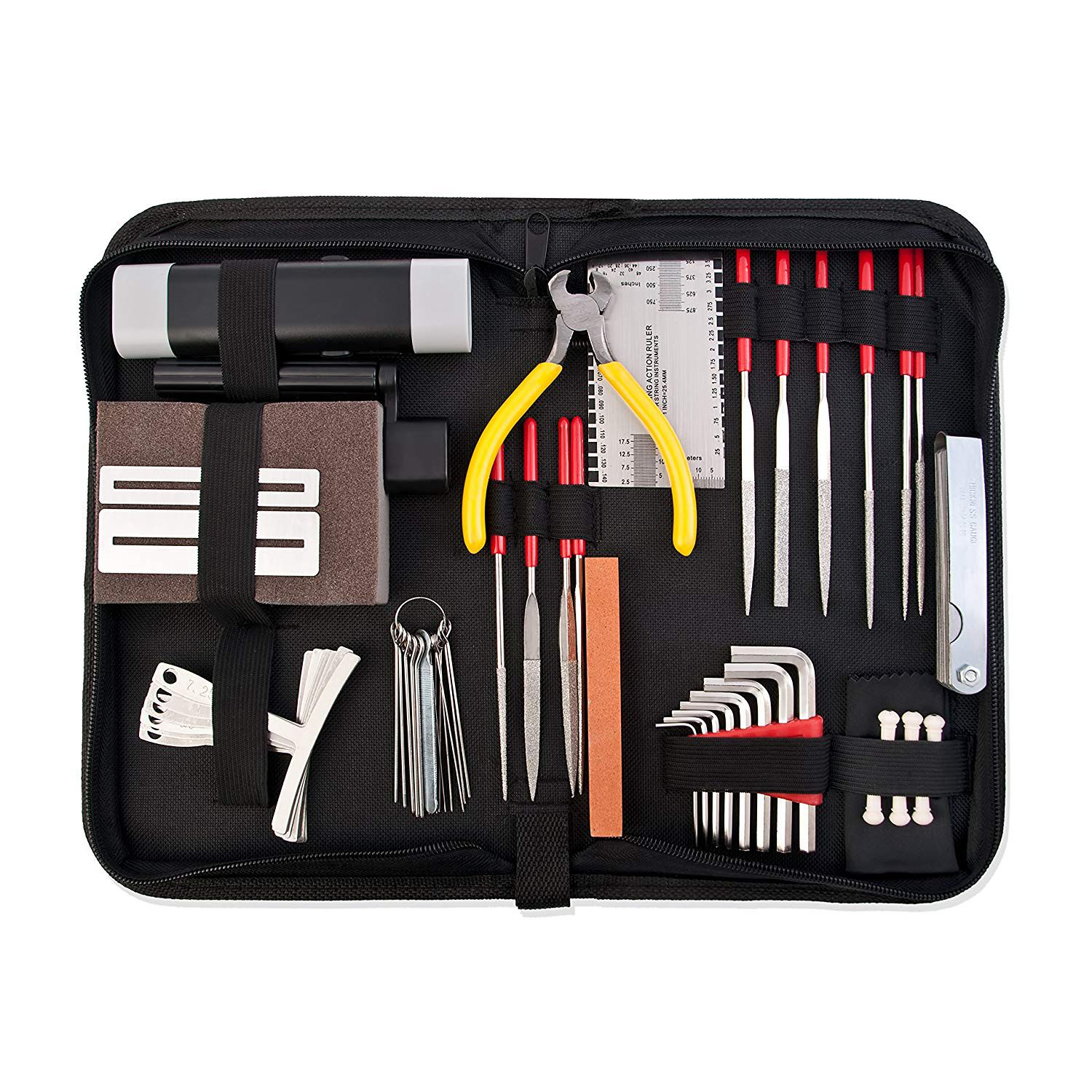 BMDT-Guitar Repair and Maintenance Accessories Kit - Complete Care Set of Tools For Guitar Ukulele & Bass. Guitar Kit With Con все цены