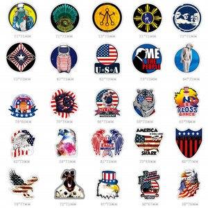 Image 3 - Наклейки и наклейки на автомобиль, американский флаг США, 100 шт.