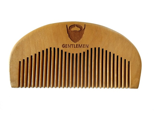 Wood Pocket Beard Comb Wholesale Small Peach Wood Hair Brush Comb For Gentleman engraved logo