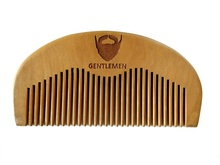 цена на Wood Pocket Beard Comb Wholesale Small Peach Wood Hair Brush Comb For Gentleman engraved logo