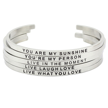 Bangle Mantra Steel Quote