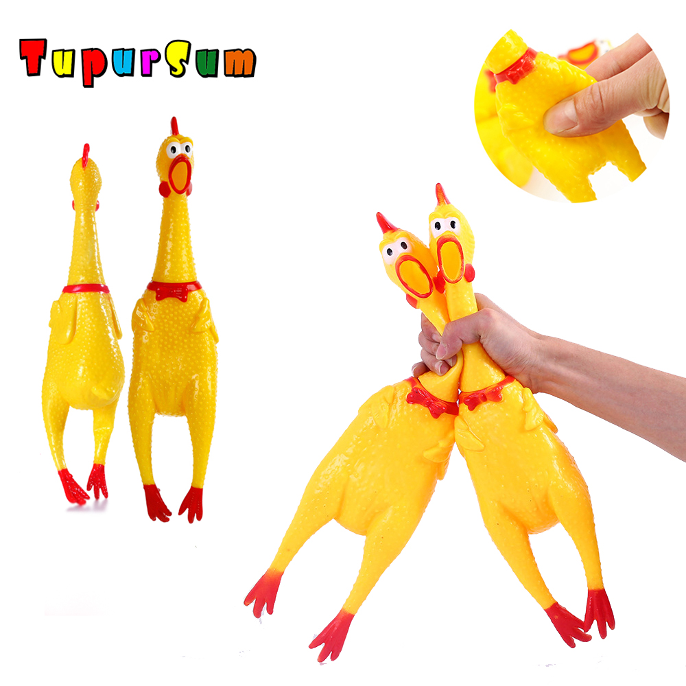 Screaming Squishy Chicken Squeeze Sound Toy Pets Dog Toys Product Shrilling Decompression Tool Squeak Vent Chicken Kid Joke Toy