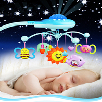 Baby Toys Projecting Musical Baby Rattles 12 Music Rattle Bed Bell For 0 12 Months Early Educational Develop Baby Intelligence