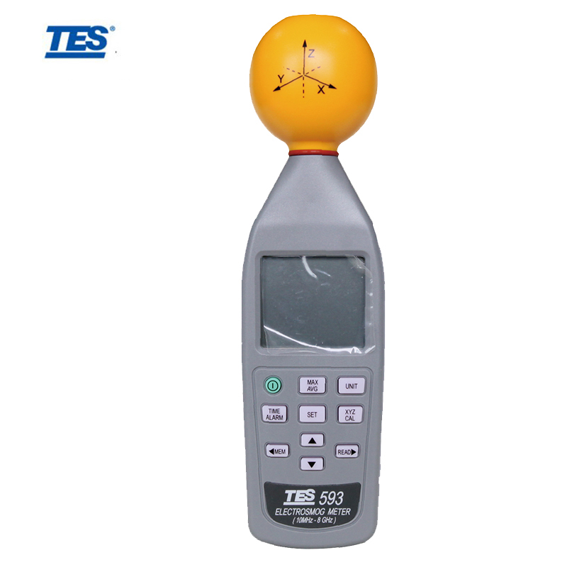 TES 593 EMF Radiation ElectroSmog Meter Tester 3 Axis Isotropic Measurements