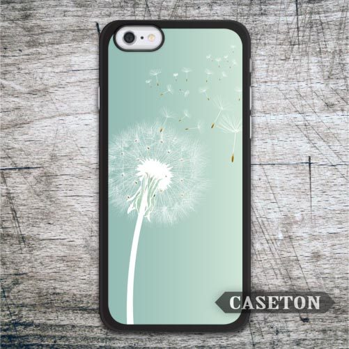 Teal Dandelion Case For iPhone 7 6 6s Plus 5 5s SE 5c and For iPod 5 High Quality Lovely Floral Phone Cover Free Shipping