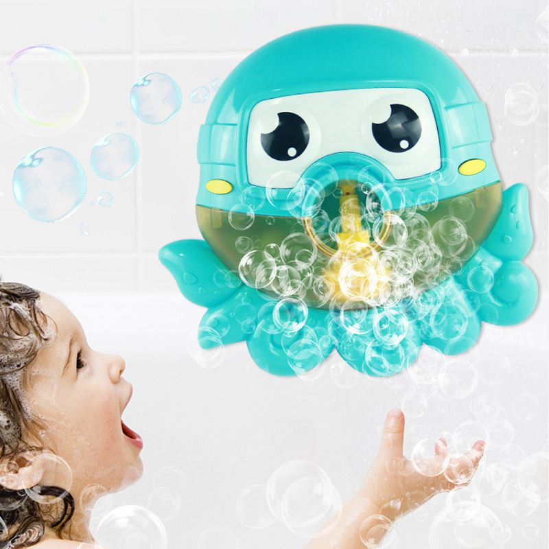 Music Octopus Crab Bubble Blower Machine Electric Automatic Bubble Maker Kids Bath Outdoor Toys Bathroom Toys Christmas Gifts in Bath Toy from Toys Hobbies