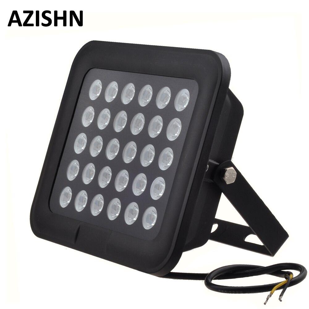 CCTV LEDS 30 piezas IR iluminador infrarrojo de visión nocturna 850nm IP65 metal impermeable CCTV Luz de relleno para cámara CCTV