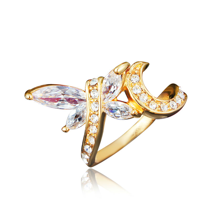 Dragonfly Design Dubai Gold Plating Statement Ring in Rings from