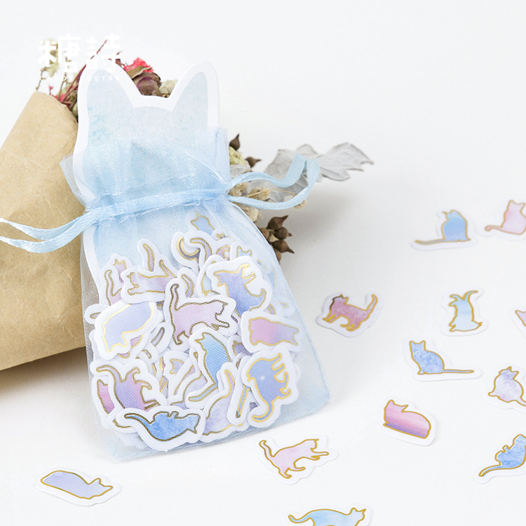 100 pcs/pack Cute Kitty Mini Paper Sticker DIY Diary Decoration Sticker for Planner Album Scrapbooking Kawaii Stationery 6 sheet bag vintage life products decoration paper sticker diy diary decoration sticker for planner album scrapbooking