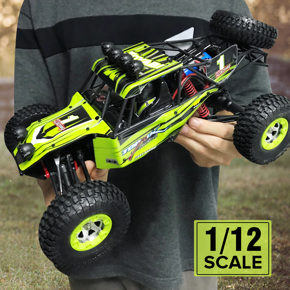 WLtoys 12428 RC Car 4WD 1/12 2.4G 50km/h High Speed Monster Truck Radio Control RC Buggy Off-Road RTR Updated Version cars toys hongnor ofna x3e rtr 1 8 scale rc dune buggy cars electric off road w tenshock motor free shipping