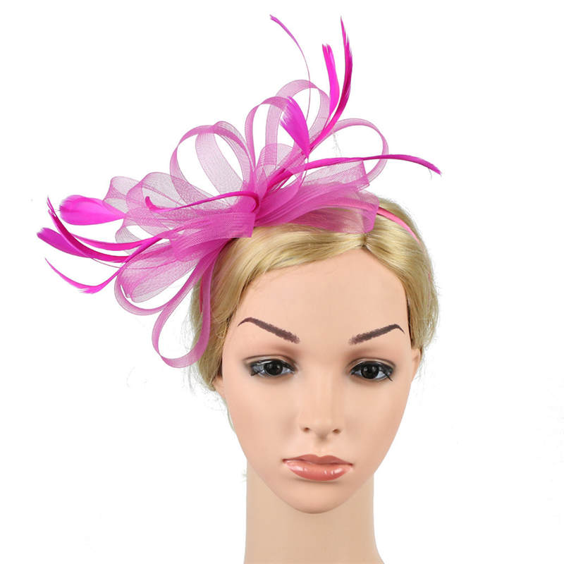 Fascinators Hat for Women Tea Party Headband Fancy Dress Accessories Wedding Hair Accessories For Women Hairband J12# (16)