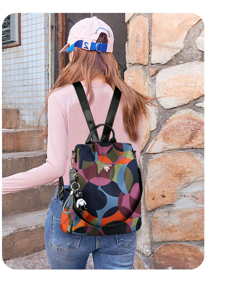 New Oxford Cloth Women Backpack Anti Theft school bags for teenage girls Travel Daypack Shoulder Bag Colorful Fashion Backpack in Backpacks from Luggage Bags