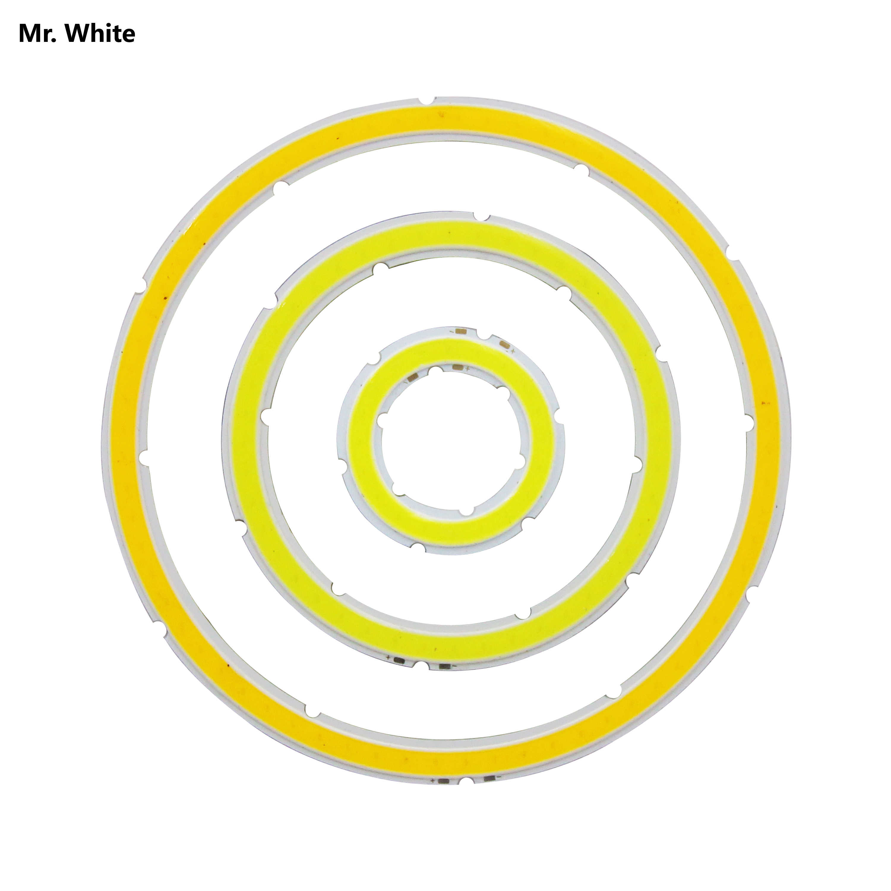 12V DC annular cob led light source 3w-15w angle eye 30mm-120mm warm cold white Ice blue cob chip for DIY