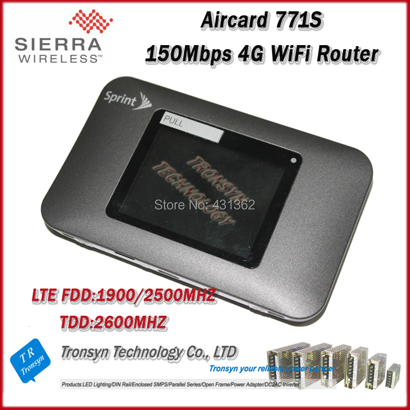 Original Unlock 150Mbps Sierra Wireless Aircard 771S LTE 4G Mobile Hotspot Support LTE FDD 1900/2500MHz And TDD 2600MHz original unlock 100mbps sierra wireless aircard 340u 4g lte usb wifi dongle with lcd display support fdd 700 aws 1700 2100mhz