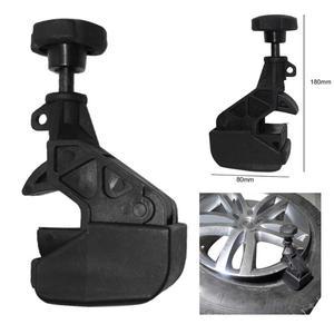 Image 2 - 1Pcs שחור 180x80x45mm פלסטיק אוניברסלי צמיג מחליף גלגל שינוי זרוק מרכז שפת כלי חרוז מהדק רכב צמיג תיקון כלים
