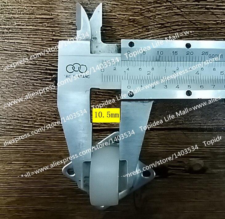 1 Para nylon gummi 23,5mm lenkrolle/universal rad für möbel/stühle ...